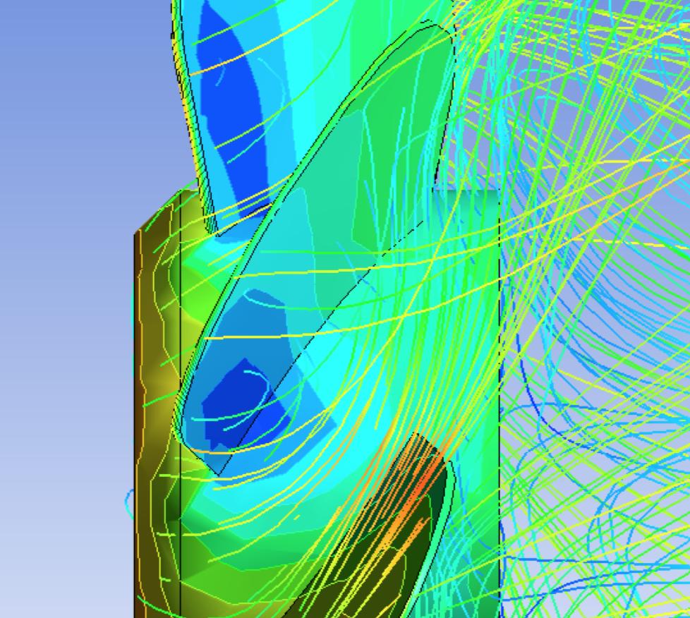 fem cfd fluidodinamica ventola flusso