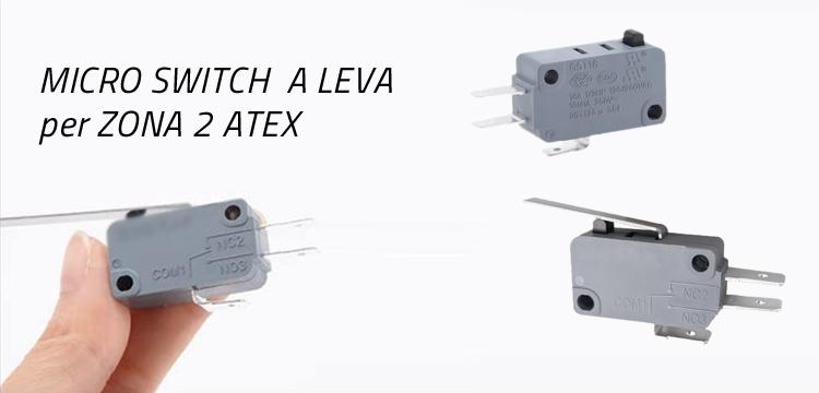 microinterruttori leva levetta per zona 2 ATEX