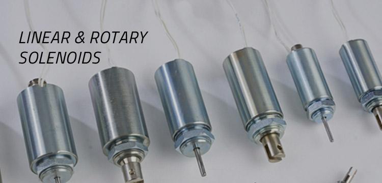 elettromagneti solenoidi lineari rotativi