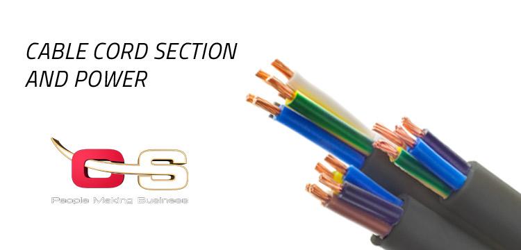 sezione cavi elettrici portata